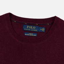 Мужской свитер Polo Ralph Lauren Classic Crew Neck Merino Wool Classic Burgundy фото- 1