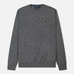 Мужской свитер Polo Ralph Lauren Classic Crew Neck Merino Wool Fawn Grey Heather фото- 0