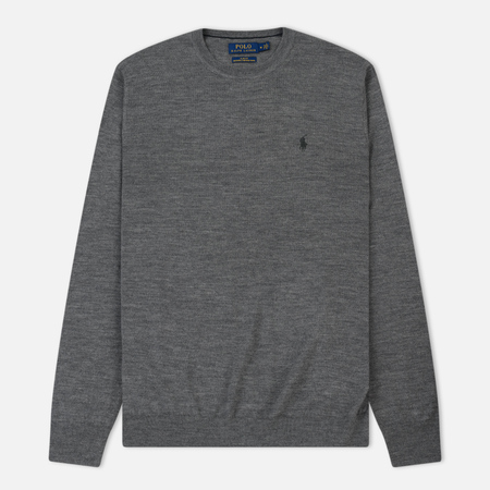 Мужской свитер Polo Ralph Lauren Classic Crew Neck Merino Wool Fawn Grey Heather