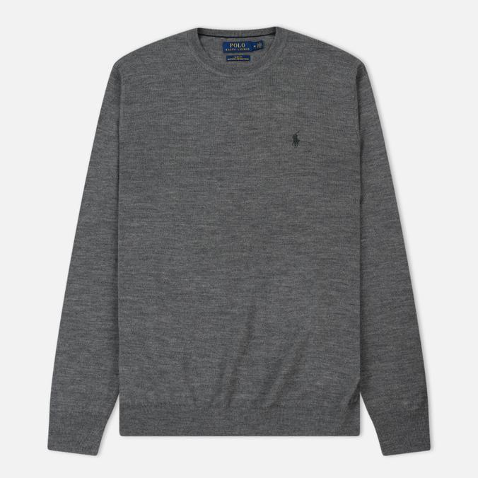 Мужской свитер Polo Ralph Lauren Classic Crew Neck Merino Wool Fawn Grey Heather