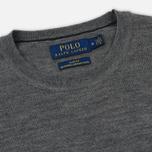 Мужской свитер Polo Ralph Lauren Classic Crew Neck Merino Wool Fawn Grey Heather фото- 1
