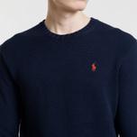 Мужской свитер Polo Ralph Lauren Classic Logo Cotton Crew Neck Hunter Navy фото- 2