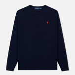 Мужской свитер Polo Ralph Lauren Classic Logo Cotton Crew Neck Hunter Navy фото- 0