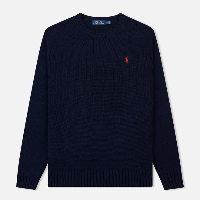 Мужской свитер Polo Ralph Lauren Classic Logo Cotton Crew Neck Hunter Navy