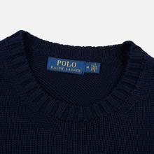 Мужской свитер Polo Ralph Lauren Classic Logo Cotton Crew Neck Hunter Navy фото- 1