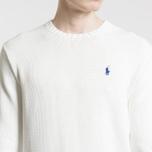 Мужской свитер Polo Ralph Lauren Classic Logo Cotton Crew Neck White фото- 2