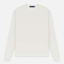 Мужской свитер Polo Ralph Lauren Classic Logo Cotton Crew Neck White фото- 0