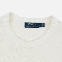 Мужской свитер Polo Ralph Lauren Classic Logo Cotton Crew Neck White фото- 1