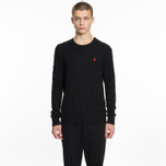 Мужской свитер Polo Ralph Lauren Crew Neck Cable Knit Black фото- 4