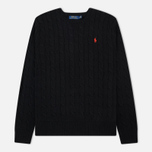 Мужской свитер Polo Ralph Lauren Crew Neck Cable Knit Black фото- 0
