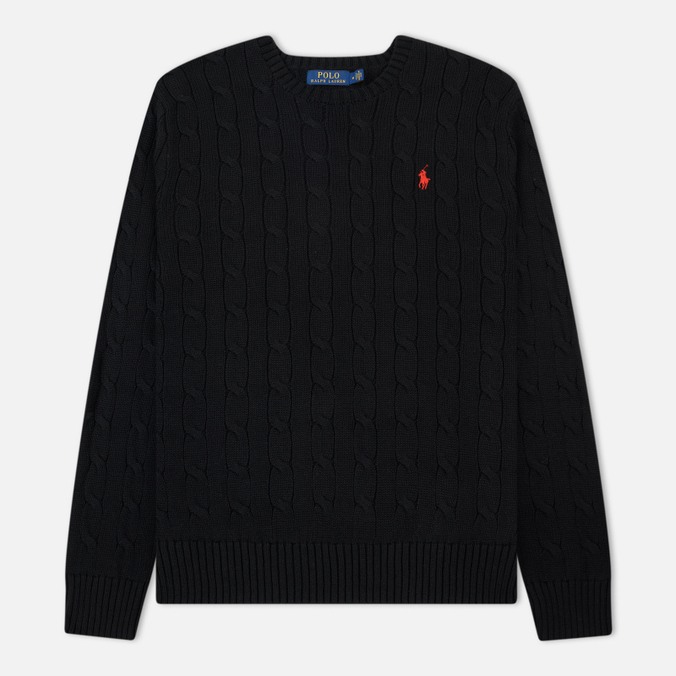 Мужской свитер Polo Ralph Lauren Crew Neck Cable Knit Black