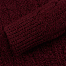 Мужской свитер Polo Ralph Lauren Crew Neck Cable Knit Classic Wine фото- 3
