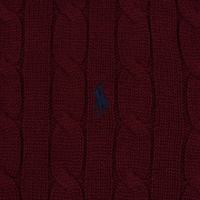 Мужской свитер Polo Ralph Lauren Crew Neck Cable Knit Classic Wine фото- 2
