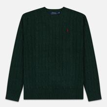 Мужской свитер Polo Ralph Lauren Crew Neck Cable Knit Scotch Pine Heather фото- 0