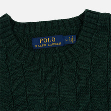 Мужской свитер Polo Ralph Lauren Crew Neck Cable Knit Scotch Pine Heather фото- 1