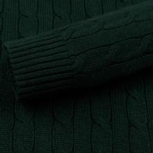 Мужской свитер Polo Ralph Lauren Crew Neck Cable Knit Scotch Pine Heather фото- 3