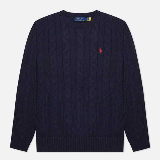 Мужской свитер Polo Ralph Lauren Driver Cotton Cable Hunter Navy