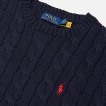 Мужской свитер Polo Ralph Lauren Driver Cotton Cable Hunter Navy фото- 1