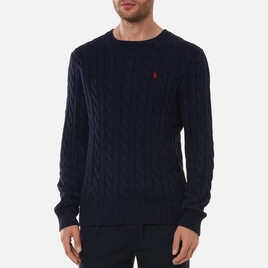 Мужской свитер Polo Ralph Lauren Driver Cotton Cable Hunter Navy