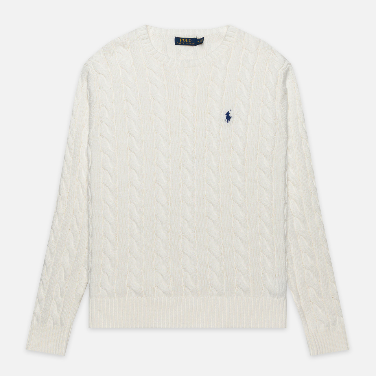 Мужской свитер Polo Ralph Lauren Driver Cotton Cable Old White