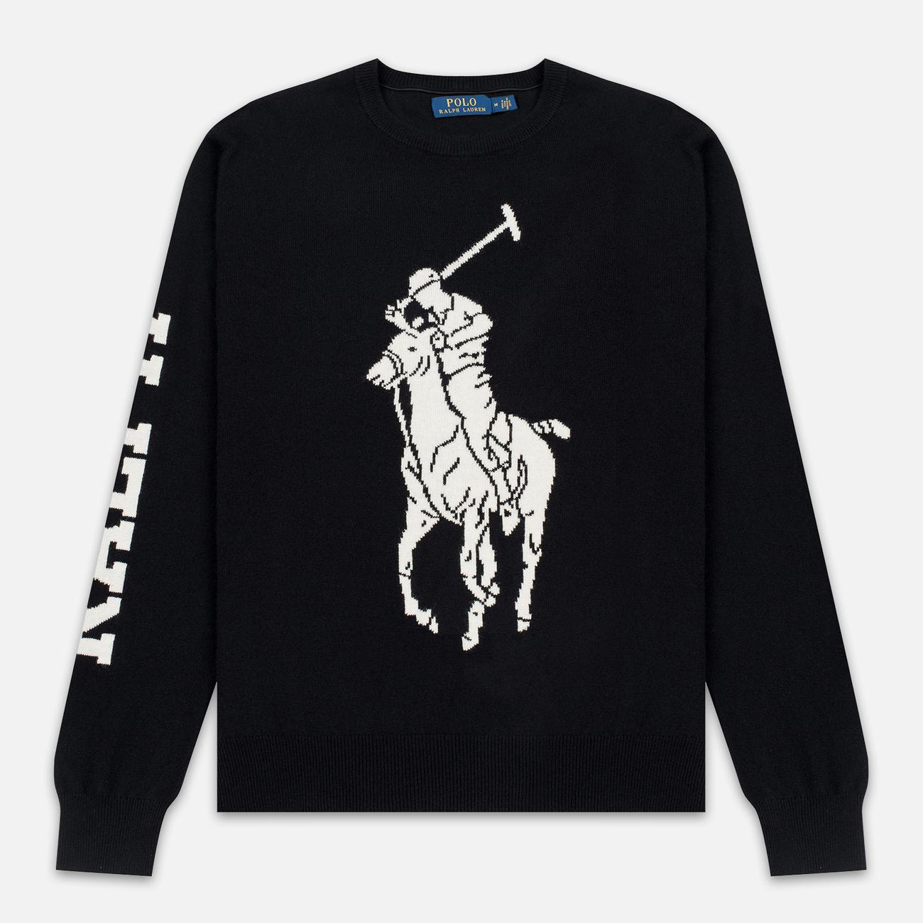 Мужской свитер Polo Ralph Lauren Loryelle Wool Big Polo Pony Black/Cream