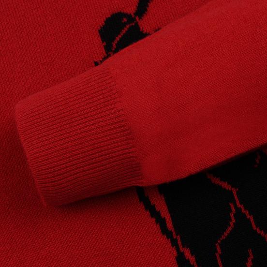 Мужской свитер Polo Ralph Lauren Loryelle Wool Big Polo Pony Park Ave Red/Black