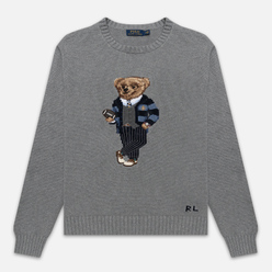 Мужской свитер Polo Ralph Lauren Polo Bear Cotton Grey Heather