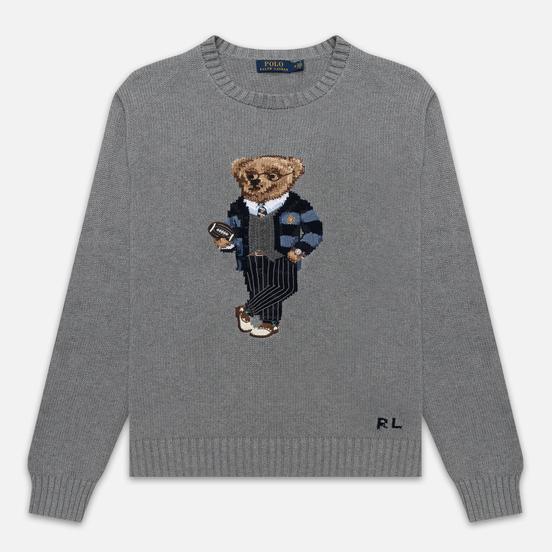 Мужской свитер Polo Ralph Lauren Polo Bear Cotton Grey Heather