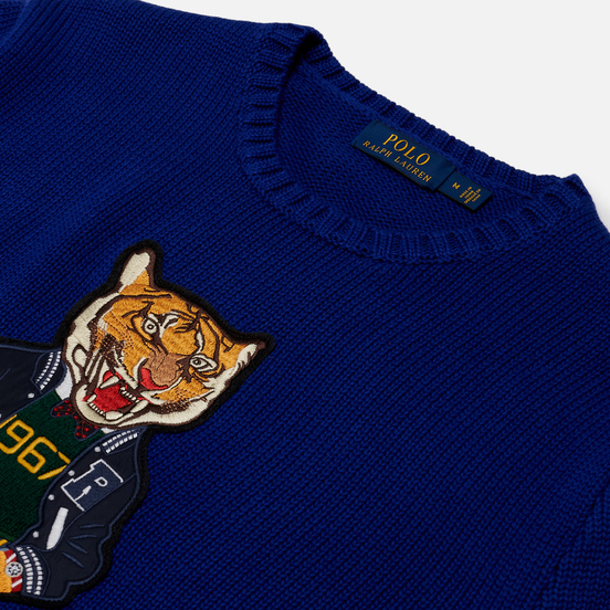 Мужской свитер Polo Ralph Lauren Polo Tiger Cotton Heritage Royal