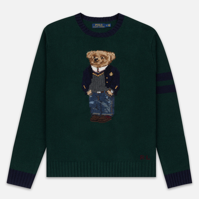 Мужской свитер Polo Ralph Lauren Preppy Bear Wool Blend Forrest Green