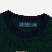 Мужской свитер Polo Ralph Lauren Preppy Bear Wool Blend Forrest Green фото- 1