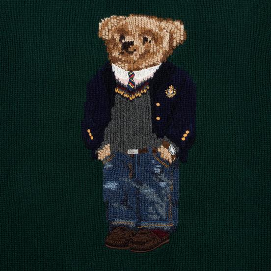 Мужской свитер Polo Ralph Lauren Preppy Bear Wool Blend Forrest Green