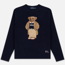 Мужской свитер Polo Ralph Lauren USA Polo Bear Wool Blend Navy фото- 0