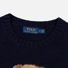 Мужской свитер Polo Ralph Lauren USA Polo Bear Wool Blend Navy фото- 1