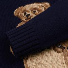 Мужской свитер Polo Ralph Lauren USA Polo Bear Wool Blend Navy фото- 3