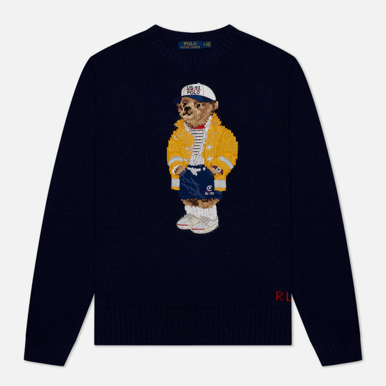 Мужской свитер Polo Ralph Lauren Yachting Bear Cotton Blend Navy Sailor