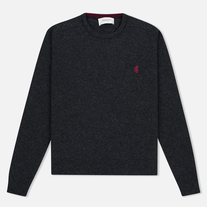 Мужской свитер Pringle of Scotland Contrast Crew Neck Charcoal