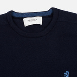 Мужской свитер Pringle of Scotland Contrast Crew Neck Navy фото- 1