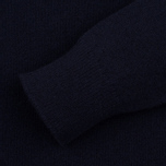 Мужской свитер Pringle of Scotland Contrast Crew Neck Navy фото- 2