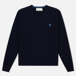 Pringle of Scotland Contrast V Neck Men's Sweater Navy photo- 0
