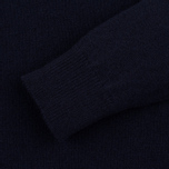 Мужской свитер Pringle of Scotland Contrast V Neck Navy фото- 2
