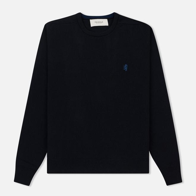 Мужской свитер Pringle of Scotland Embroidered Lion Lambswool Navy/Ink
