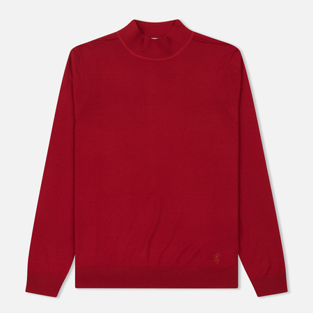 Мужской свитер Pringle of Scotland High Neck Merino Wool Red