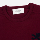 Мужской свитер Pringle of Scotland Lion Intarsia Crew Neck Burgundy фото- 1
