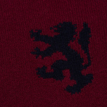Мужской свитер Pringle of Scotland Lion Intarsia Crew Neck Burgundy фото- 2