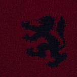 Pringle of Scotland Lion Intarsia Crew Neck Men's Sweater Burgundy photo- 2