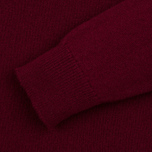 Мужской свитер Pringle of Scotland Lion Intarsia Crew Neck Burgundy фото- 3