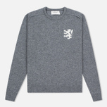 Мужской свитер Pringle of Scotland Lion Intarsia Crew Neck Grey Melan фото- 0