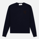 Мужской свитер Pringle of Scotland Lion Intarsia Crew Neck Navy фото- 0