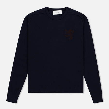 Мужской свитер Pringle of Scotland Lion Intarsia Crew Neck Navy